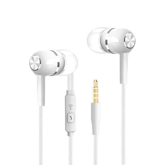 Sport Earbuds with Microphone Tech Accessories shopgadgetmonkey White