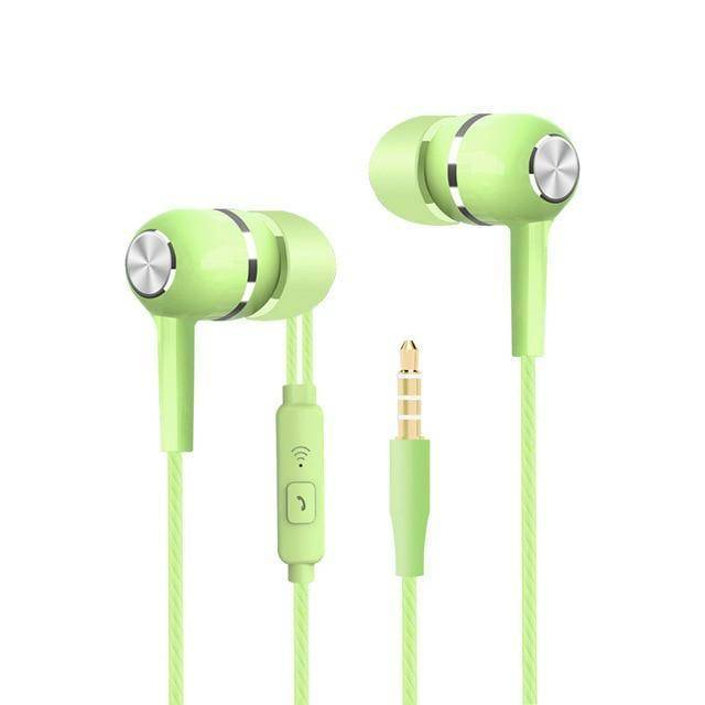 Sport Earbuds with Microphone Tech Accessories shopgadgetmonkey Green