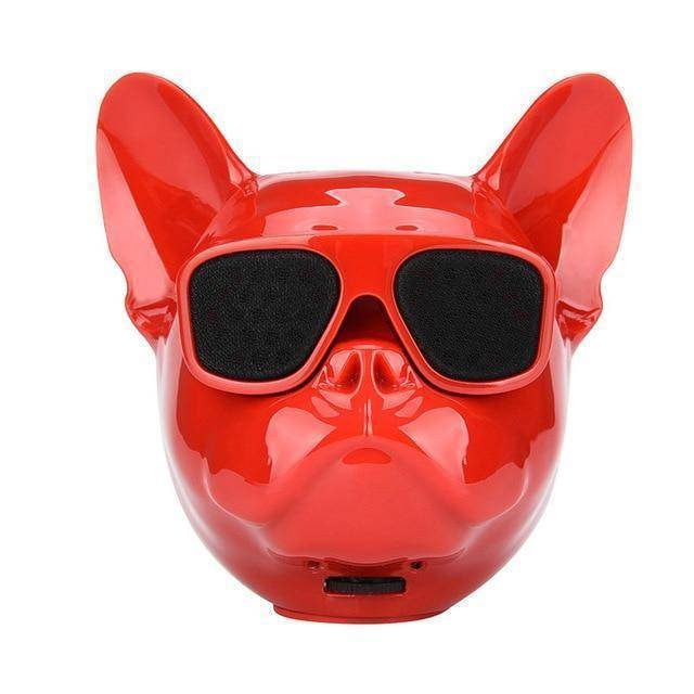 Bull Dog Portable Wireless Bluetooth Speaker Mini Stereo MP3 Bulldog Tech Accessories Gadget Monkey Red None
