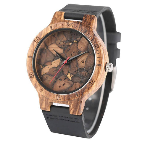 Image of Mens Wooden Watch - Original Wood Quartz Wristwatches Jewelry & Watches Gadget Monkey
