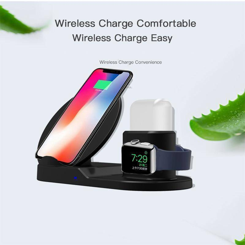 Fast Charge Wireless Charger For iPhone 3 In 1 Dock Station For Apple Watch Series 1 2 3 Airpods Tech Accessories Gadget Monkey