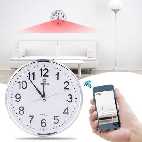 Hidden Camera Wall Clock with Motion Detection (White) Home & Garden shopgadgetmonkey