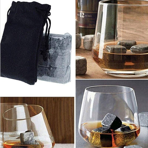 Whisky Ice Stones With Velvet Pouch Home & Garden Gadget Monkey