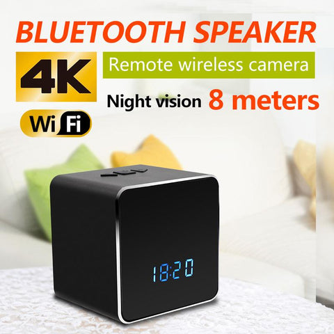 Image of Bluetooth Speaker with 4K WIFI HD Video Camera Tech Accessories Gadget Monkey