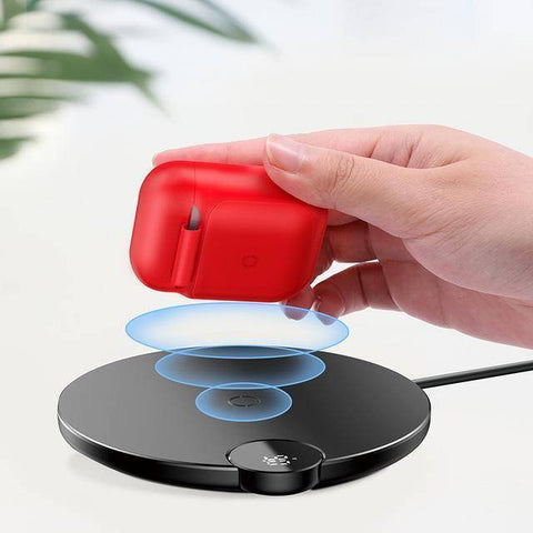 Qi Wireless Charging Protective Case For Airpods Tech Accessories Gadget Monkey Red
