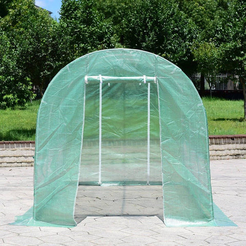 Image of Walk-in Grow Tent Greenhouse With Steel Frame 11.5' X 6.5' X 6.5' Home & Garden Gadget Monkey