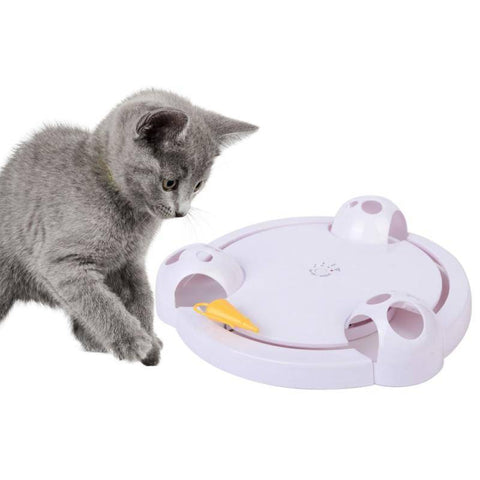 Image of Interactive Cat Toy - Automatic Rotating Mouse Chasing Game Home & Garden Gadget Monkey
