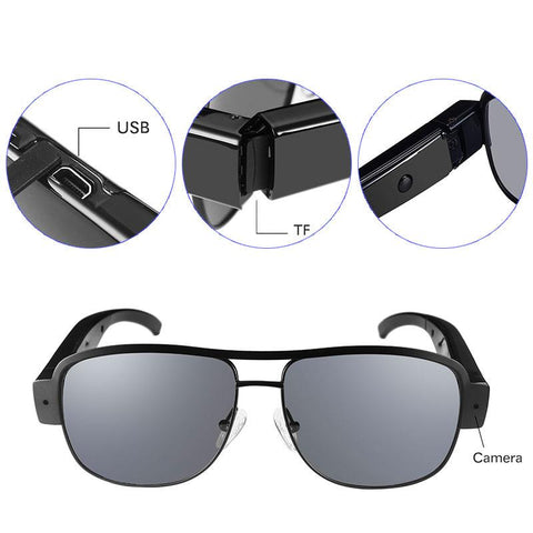 Sunglasses with HD Video Recorder Tech Accessories Gadget Monkey