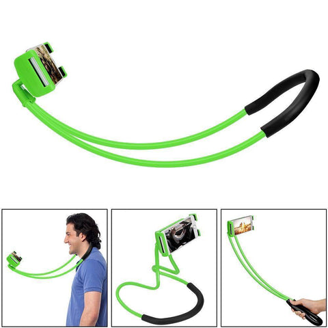360 Degree Rotation Lazy Bendable Flexible Neck Phone Holder - iPhone Android Tech Accessories Gadget Monkey