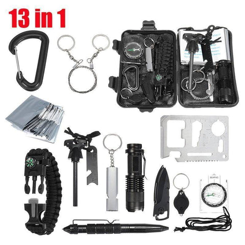 13 in 1 Outdoor Emergency Survival Kit Survival Gear Tech Accessories Gadget Monkey Default Title