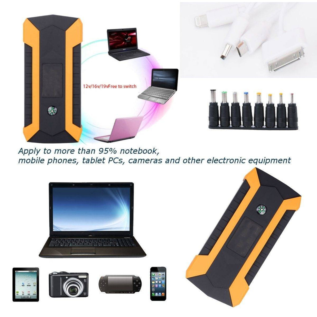 Car Jump Starter - Portable Battery Booster - Charger Power Bank Starting Device Tech Accessories Gadget Monkey
