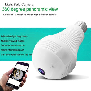 Lightbulb 360° Night Vision Infrared HD Camera Tech Accessories shopgadgetmonkey