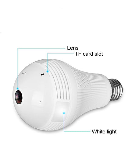 360 Degree Video Camera Panorama 1.3 - 2 - 5 Million Pixel Bulb With Hotspot Wireless WiFi Mobile Phone Remote Dual Light IP Home & Garden Gadget Monkey