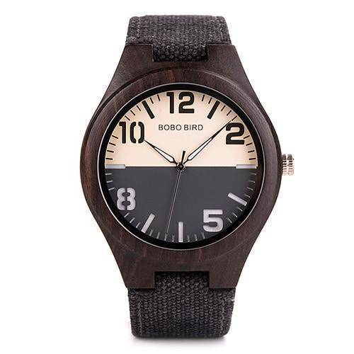 Mens and Womens Wooden Watch comes in a Beautiful Wood Gift Box Box Jewelry & Watches Gadget Monkey Black Mens