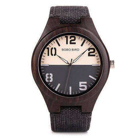 Image of Mens and Womens Wooden Watch comes in a Beautiful Wood Gift Box Box Jewelry & Watches Gadget Monkey Black Mens