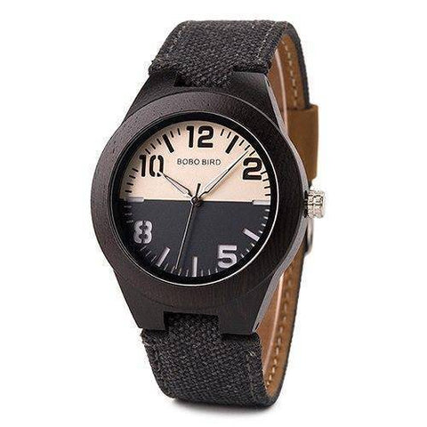 Mens and Womens Wooden Watch comes in a Beautiful Wood Gift Box Box Jewelry & Watches Gadget Monkey Black Womens
