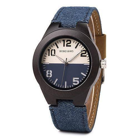 Image of Mens and Womens Wooden Watch comes in a Beautiful Wood Gift Box Box Jewelry & Watches Gadget Monkey Blue Womens