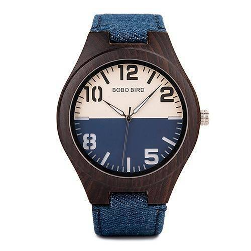 Mens and Womens Wooden Watch comes in a Beautiful Wood Gift Box Box Jewelry & Watches Gadget Monkey Blue Mens