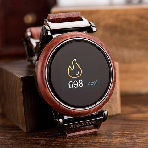 Image of Touch Screen Wooden Watch For Men and Women in Wood Gift Box Jewelry & Watches Gadget Monkey