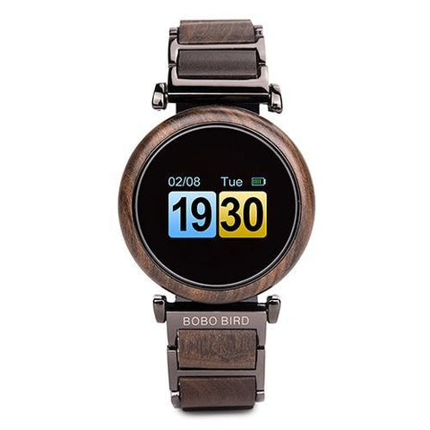 Image of Touch Screen Wooden Watch For Men and Women in Wood Gift Box Jewelry & Watches Gadget Monkey W-R27-1