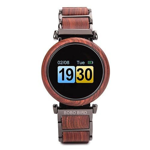 Touch Screen Wooden Watch For Men and Women in Wood Gift Box Jewelry & Watches Gadget Monkey W-R27-2