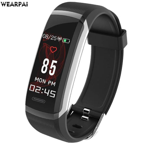 Fitness Tracker With Heart Rate Monitor - Waterproof Smart Wristband With Color Screen Tech Accessories Gadget Monkey Black