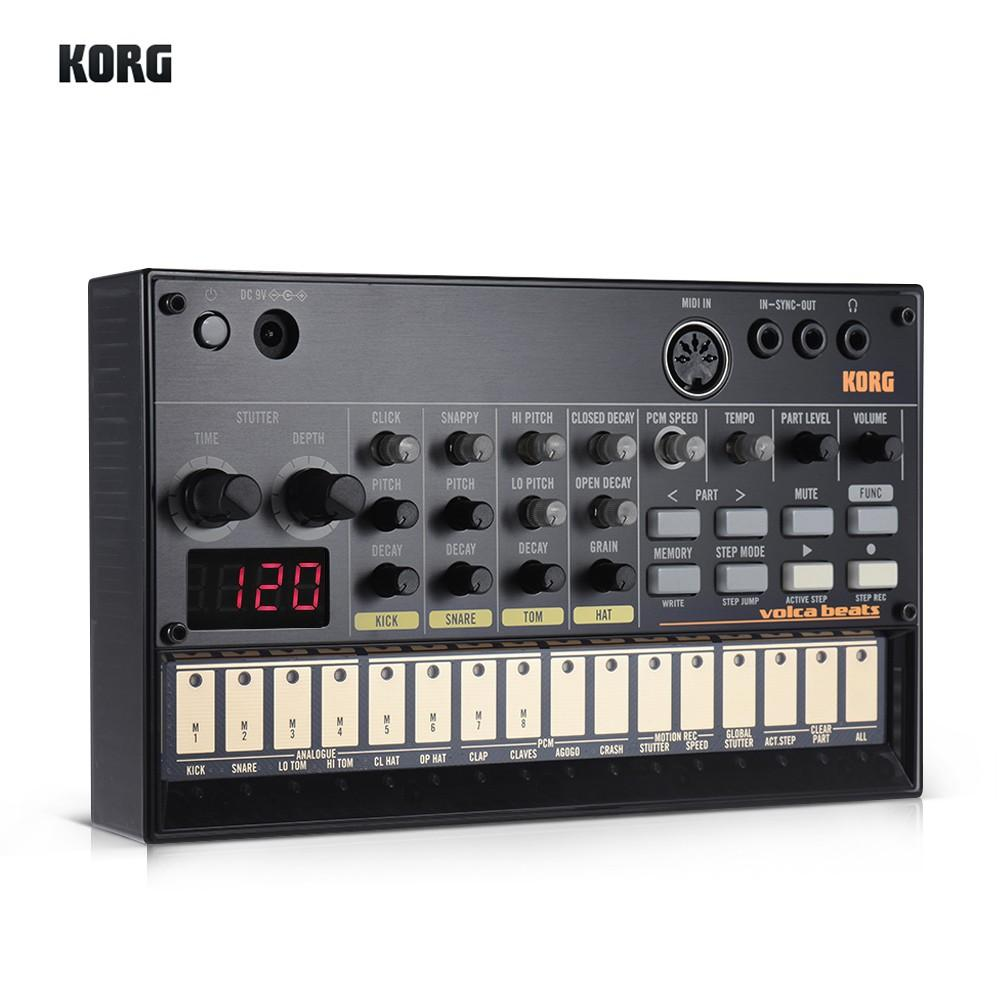 Portable Analog Synthesizer (Synth) with Built-in Delay Effect Loop Sequencer Tech Accessories Gadget Monkey KORG VOLCA BEATS