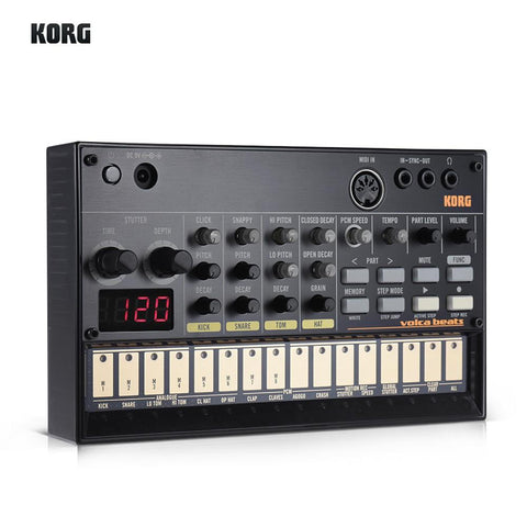 Image of Portable Analog Synthesizer (Synth) with Built-in Delay Effect Loop Sequencer Tech Accessories Gadget Monkey KORG VOLCA BEATS