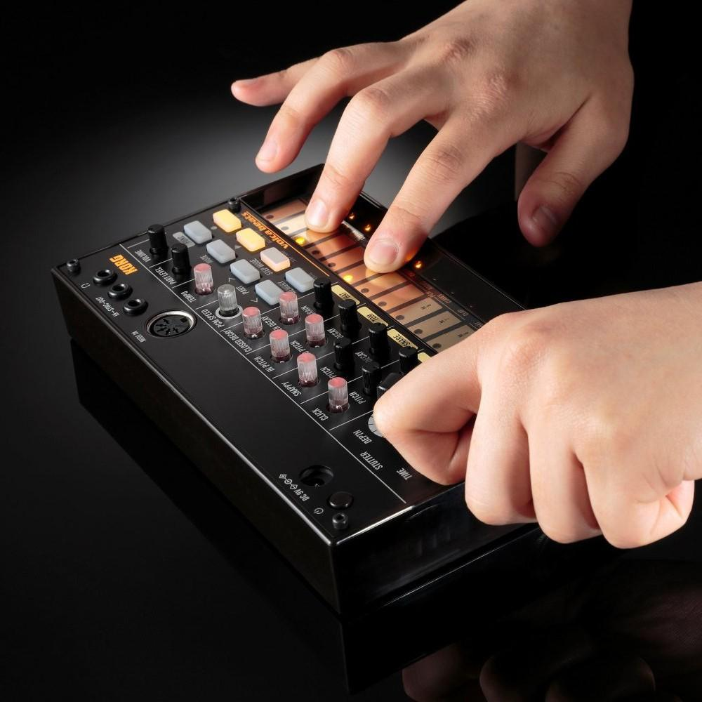 Portable Analog Synthesizer (Synth) with Built-in Delay Effect Loop Sequencer Tech Accessories Gadget Monkey