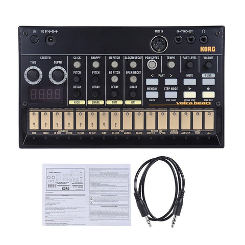 Image of Portable Analog Synthesizer (Synth) with Built-in Delay Effect Loop Sequencer Tech Accessories Gadget Monkey