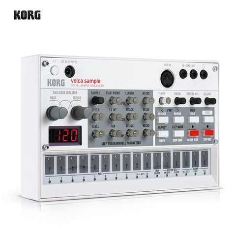 Image of Portable Analog Synthesizer (Synth) with Built-in Delay Effect Loop Sequencer Tech Accessories Gadget Monkey KORG VOLCA SAMPLE