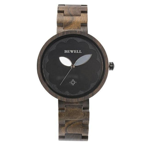 Image of Womens Sandalwood and Ebony Wooden Watch - Analog Quartz Wristwatch Jewelry & Watches Gadget Monkey ebony China