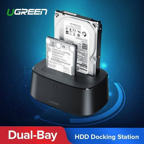 Image of HDD Docking Station SATA to USB 3.0 for 2.5 and 3.5 SSD Hard Drive Enclosure Tech Accessories Gadget Monkey