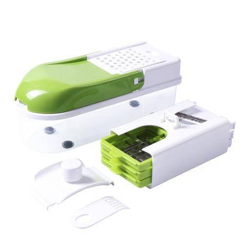 Image of Multifunction Vegetable Slicer with 8 Dicing Blades Home & Garden Gadget Monkey China green