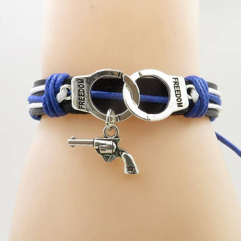 Image of Police Support Charm Bracelet Jewelry & Watches Gadget Monkey No Love