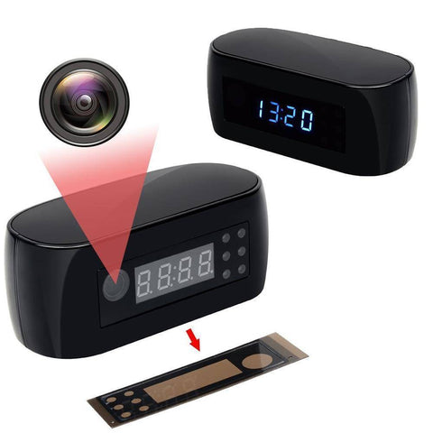 Image of WiFi IP Mini Video Camera Alarm Clock Home & Garden Gadget Monkey