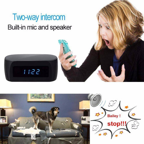 WiFi IP Mini Video Camera Alarm Clock Home & Garden Gadget Monkey