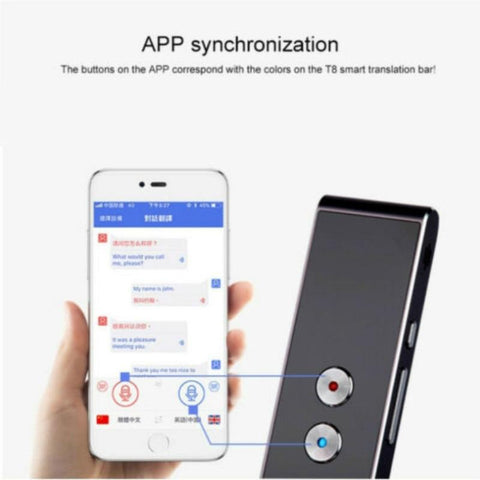 Smart Voice Translator - Two-Way Real Time Multi-Language Learning for Travel Tech Accessories Gadget Monkey