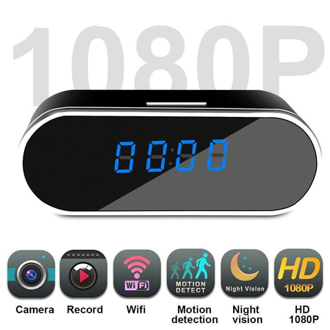 Image of Mini WIFI Alarm Clock Camera - Night Vision Tech Accessories Gadget Monkey