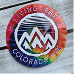 colorado tie dye sticker
