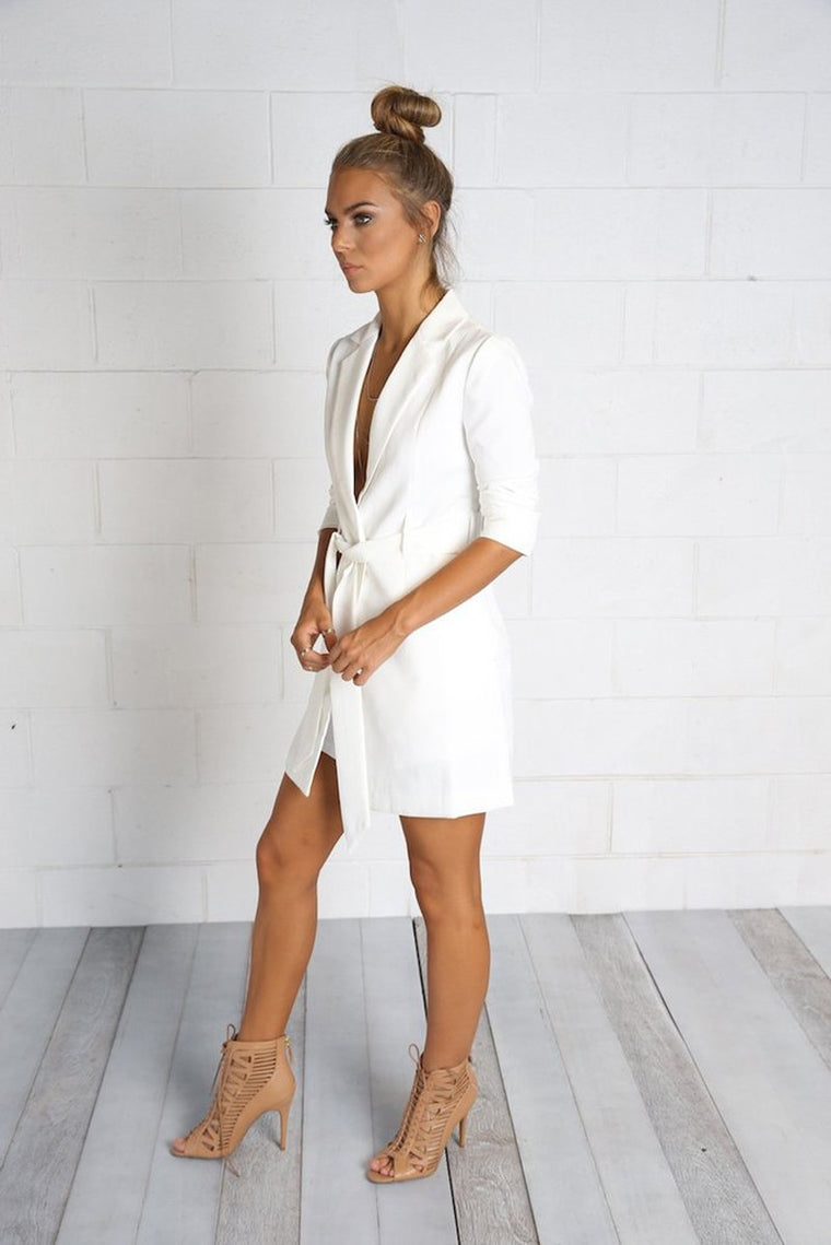 SLIM LONG BLAZER