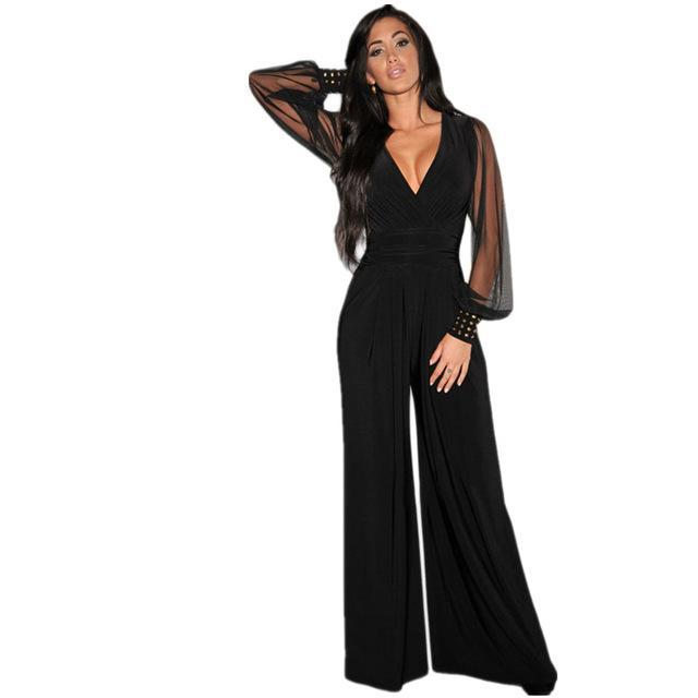 CUFFED SLEEVE JUMPSUIT
