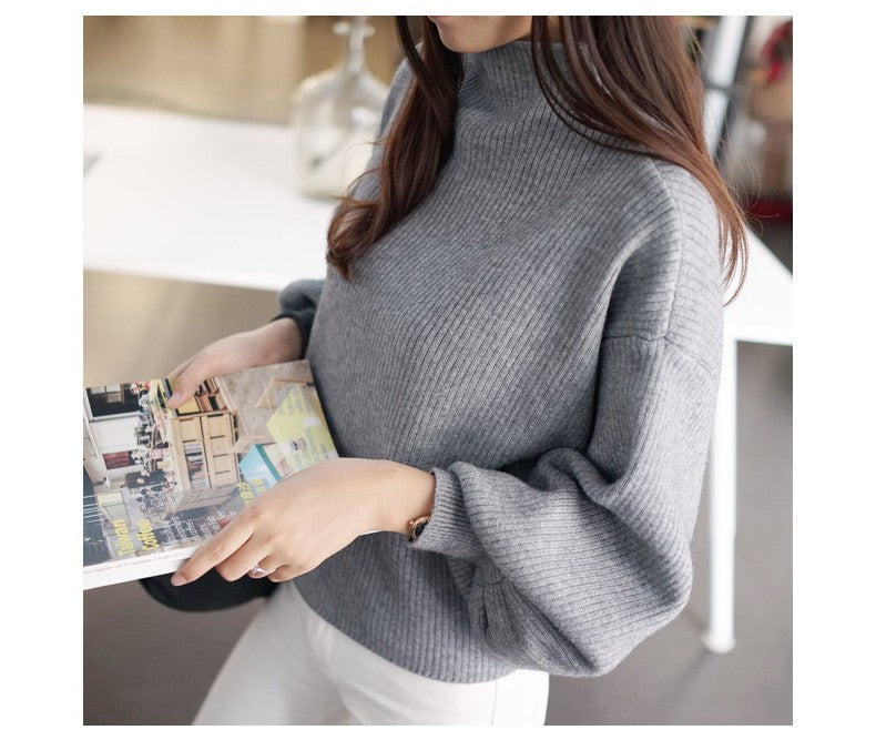 LOOSE TURTLE NECK TOP