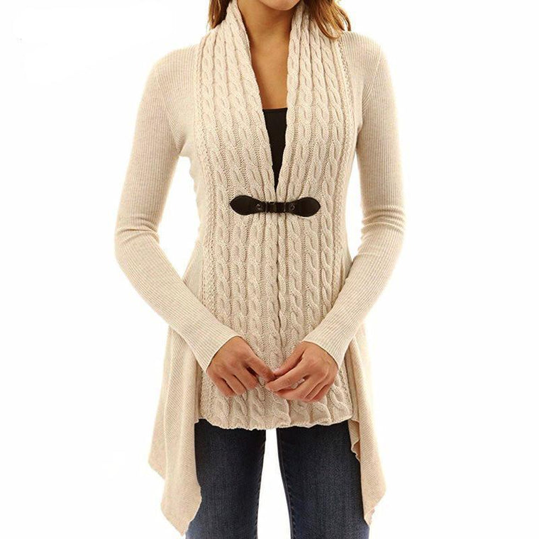 ASYMMETRICAL KNITTED CARDIGAN