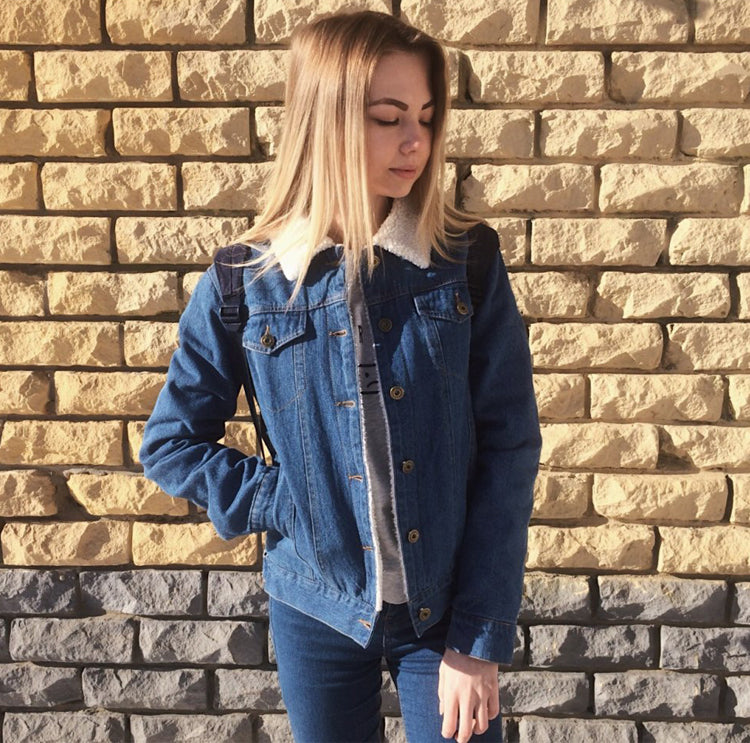 DENIM WOOL JACKET