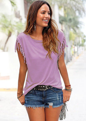 LOOSE TASSEL T-SHIRT
