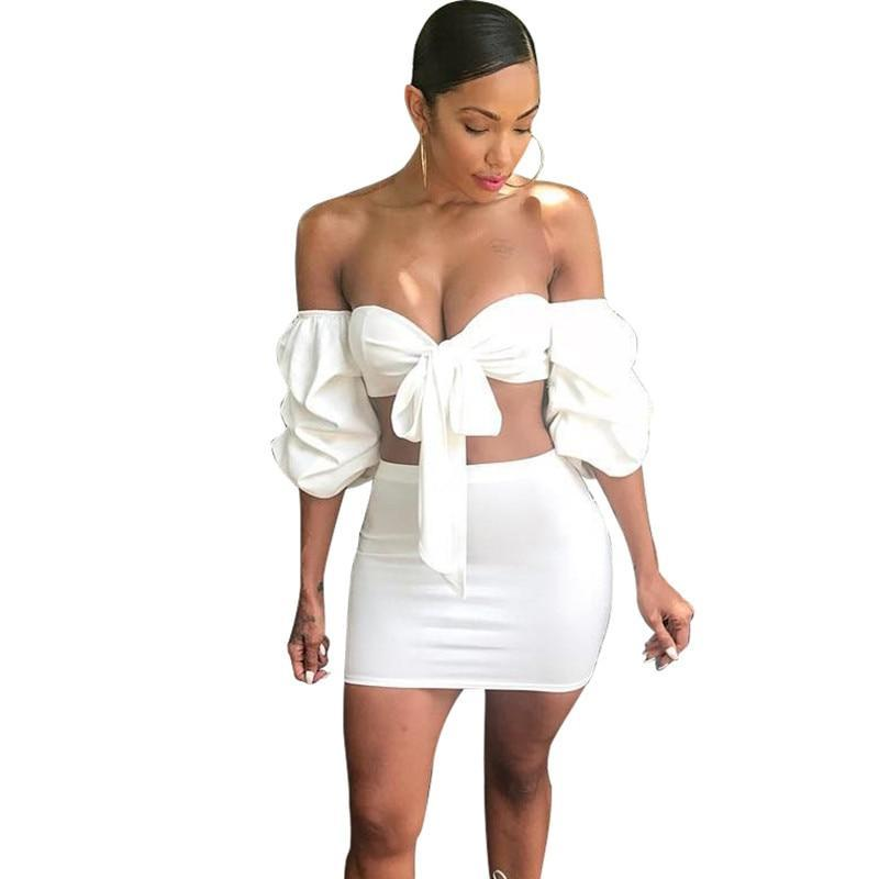 PUFF SLEEVE TWO PIECE
