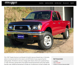 1997 Toyota Tacoma Sold on BAT