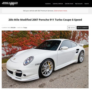 2007 Porsche 911 Turbo BAT Auction
