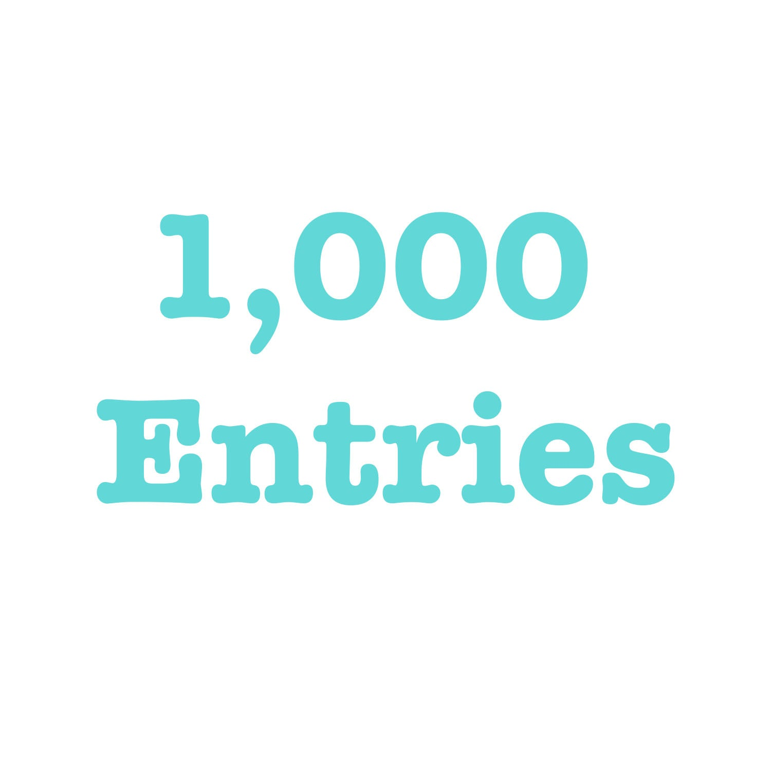 Donate To Get 1,000 Entries